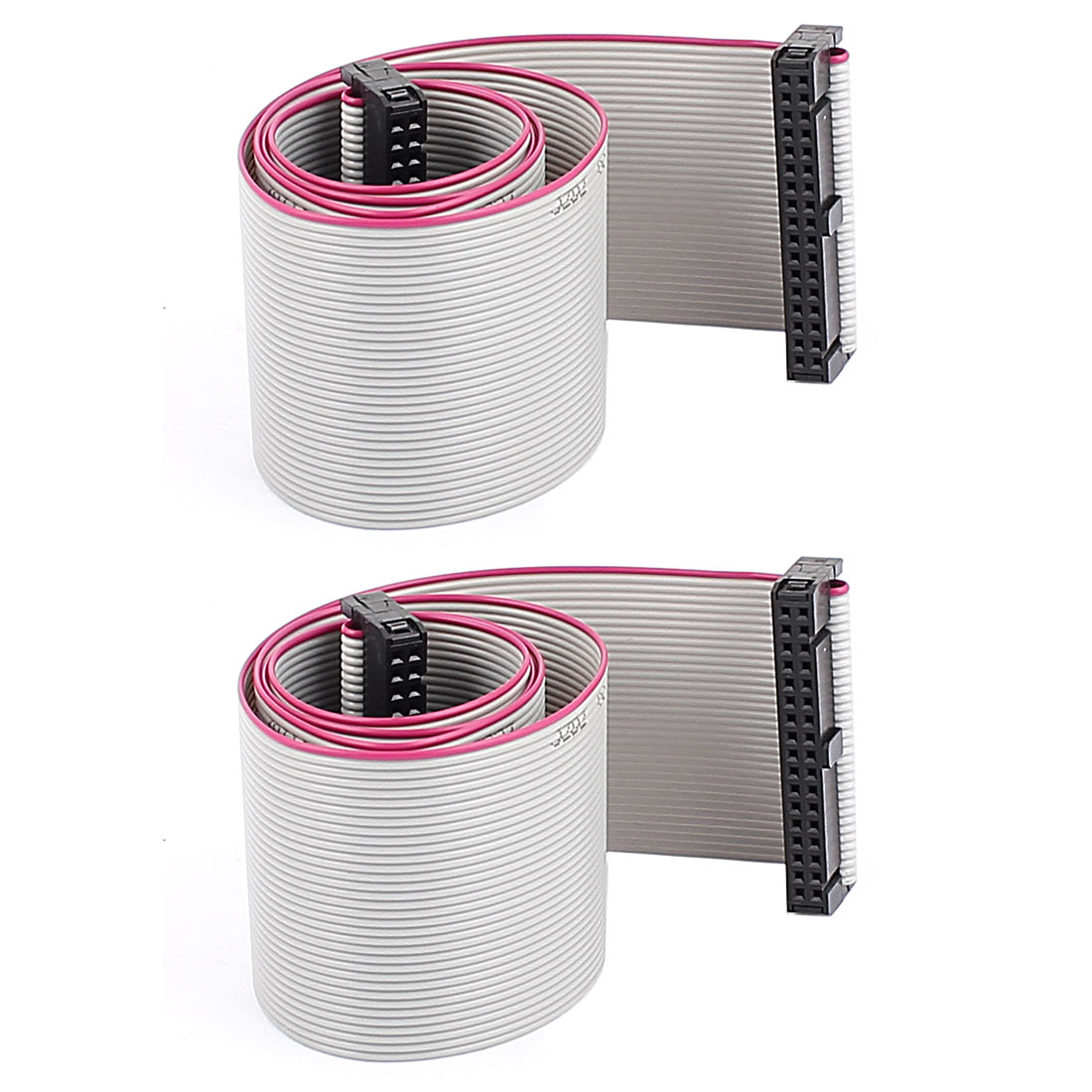 2PCS 58cm Length 34 Pin 2.54mm Pitch IDC Ribbon Cable for ISP JTAG ARM