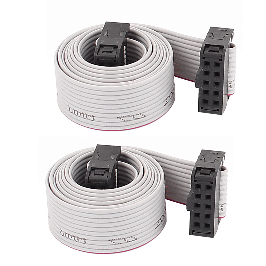 2PCS 58cm Length 10 Pin 2.54mm Pitch IDC Ribbon Cable for ISP JTAG ARM