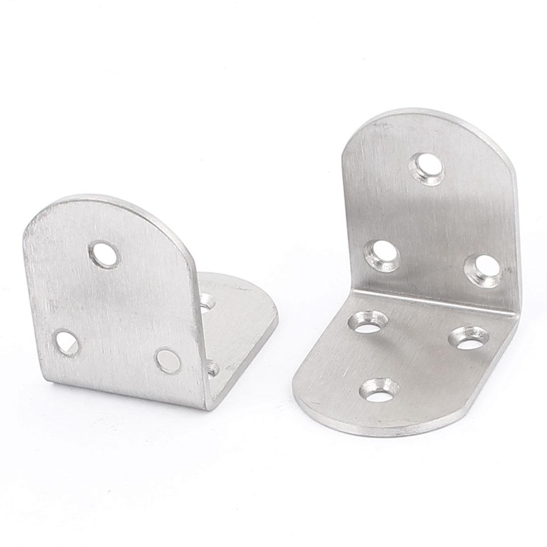 Home Furniture Fastener 48x48x38mm Corner Braces Angle Brackets 2 Pcs
