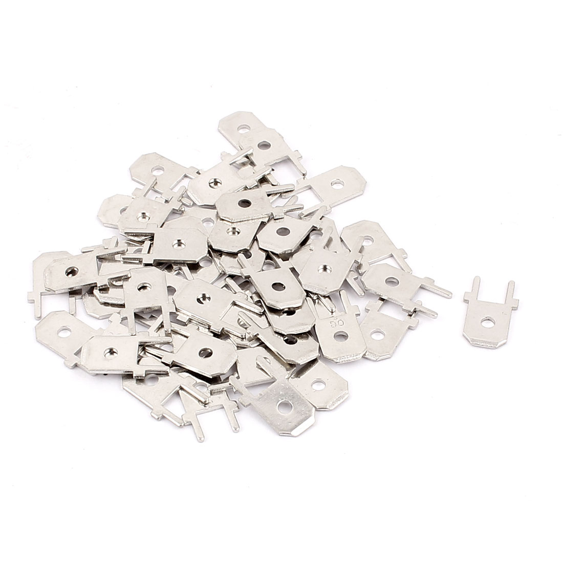 "50Pcs 6.3mm 0.25"" Male Metal Terminal Wiring Connectors"