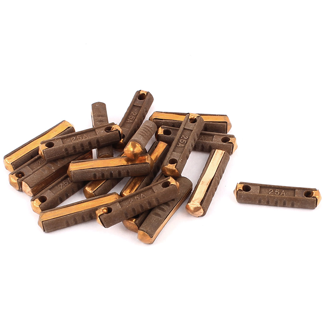 20 Pcs DC 32V 25A Low Breaking Capacity 30x6x4.5mm Ceramic Fuses Brown