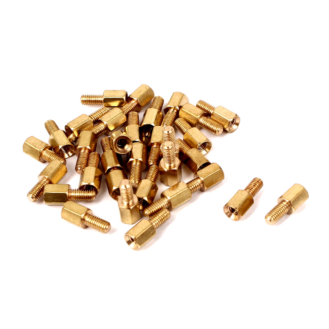 M3 Male/Female Threaded Brass Hexagonal PCB Spacer Standoff Support 6mm+6mm 30pcs