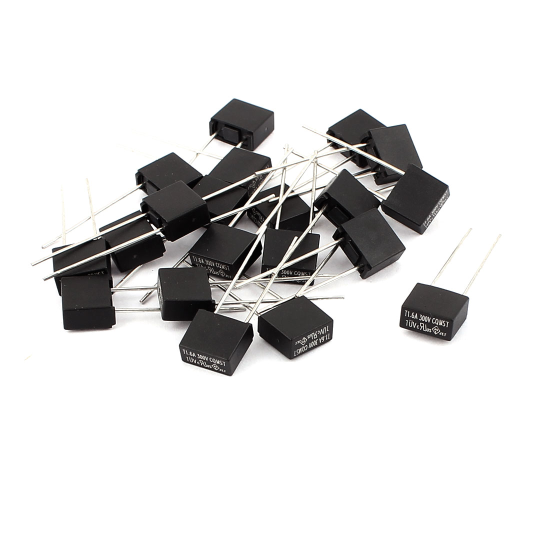 20 Pcs CQMST T1.6A 1.6A 300V Square Miniature Micro Slow Blow Fuse