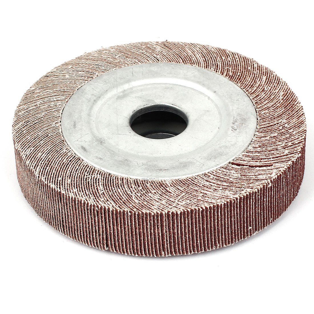 "133mm Dia 80 Grit 1"" Bore 25mm Thick Flap Sanding Disc Polishing Buffing Wheel"