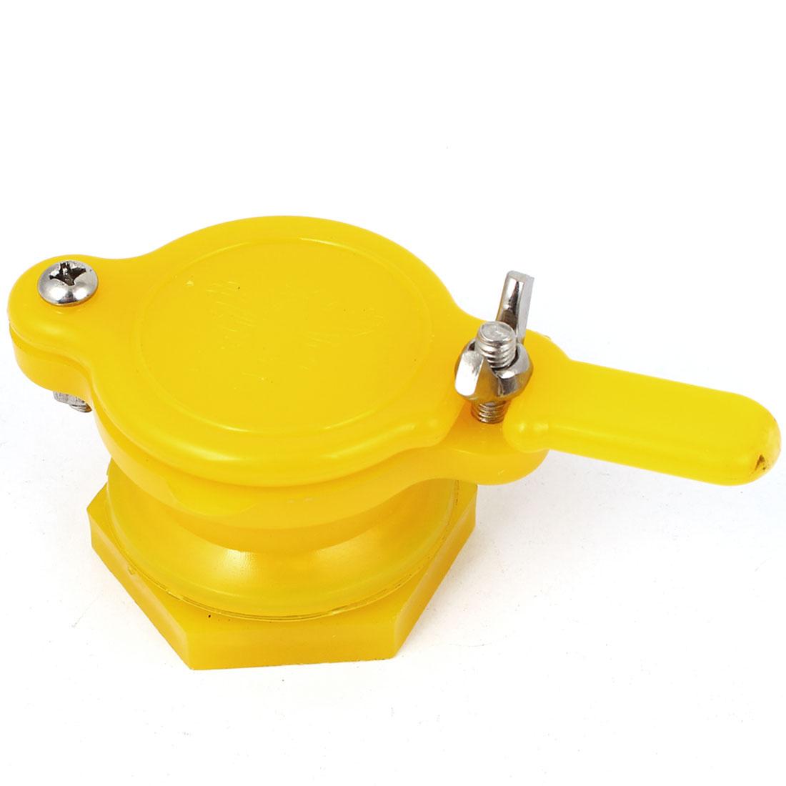 40mm Dia. Plastic Honey Shake Machine Gate Valve Beekeeping Bottling Tool Yellow