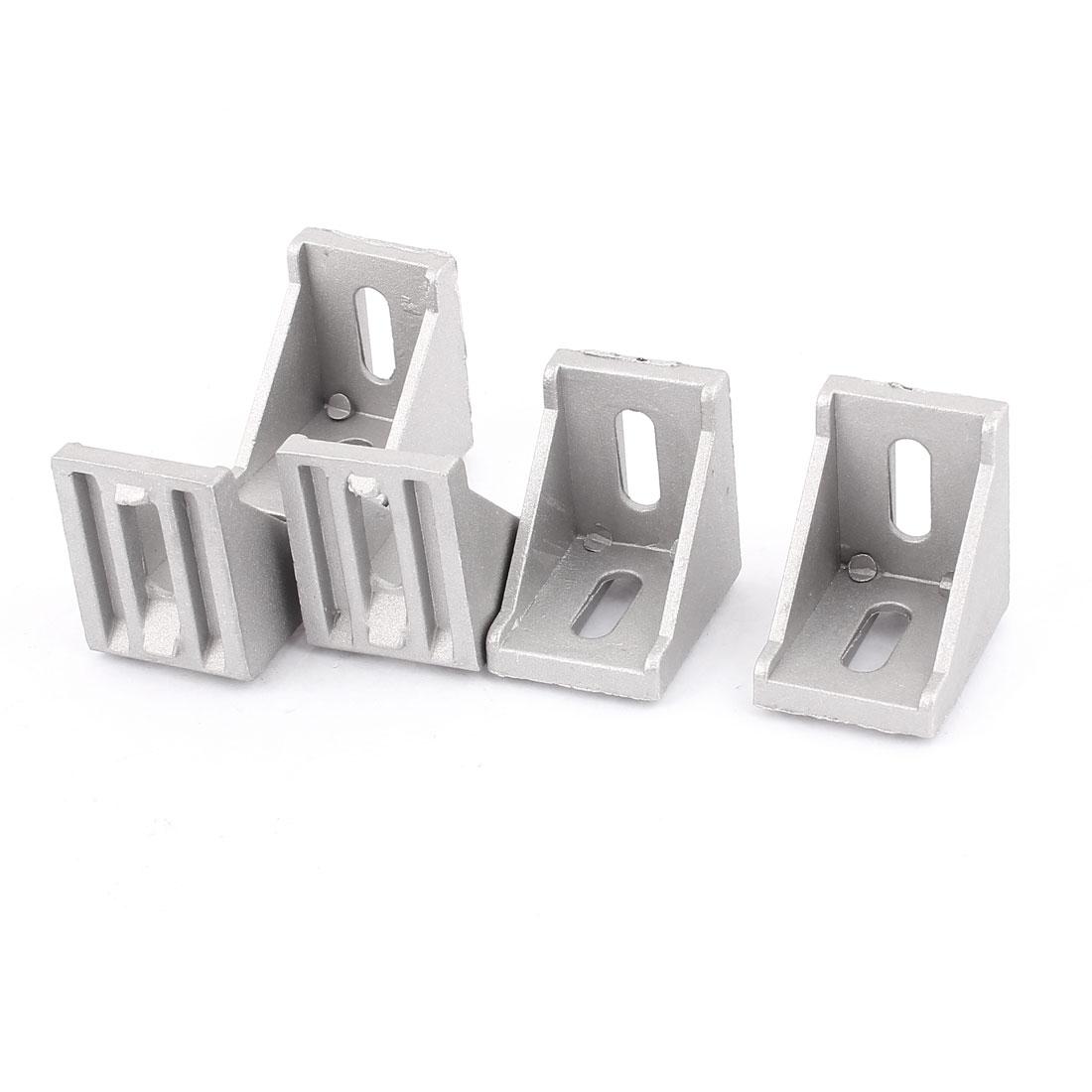 Aluminum Alloy 35x35x28mm Corner Brace Angle Bracket Support 5Pcs