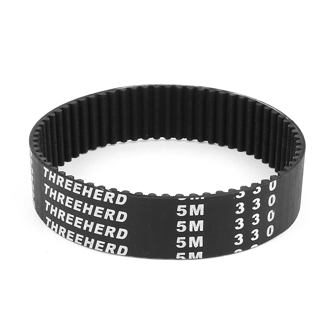 5M330 25mm Width 5mm Pitch 66 Teeth Black Rubber PU Machine Timing Belt