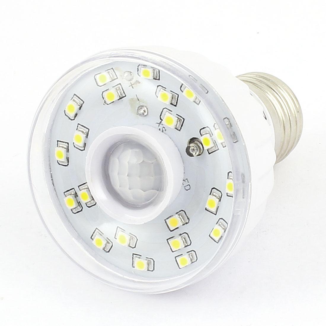 AC 220-240V 3W E26 Sound Light Controlling LED PIR Motion Sensor Light