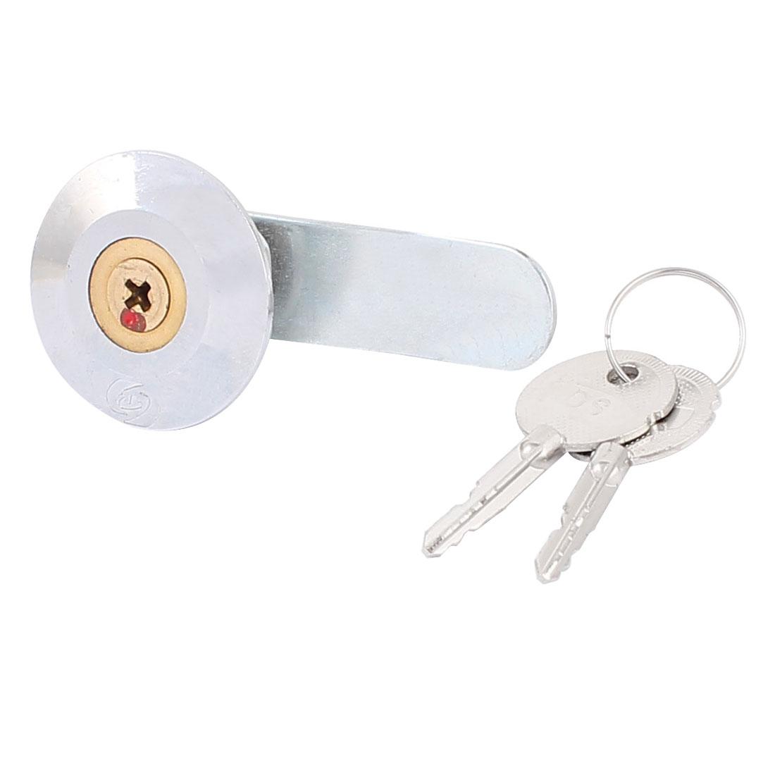 Display Cabinet Electrical Box Safety Steel Cross Key Cam Lock w Keys