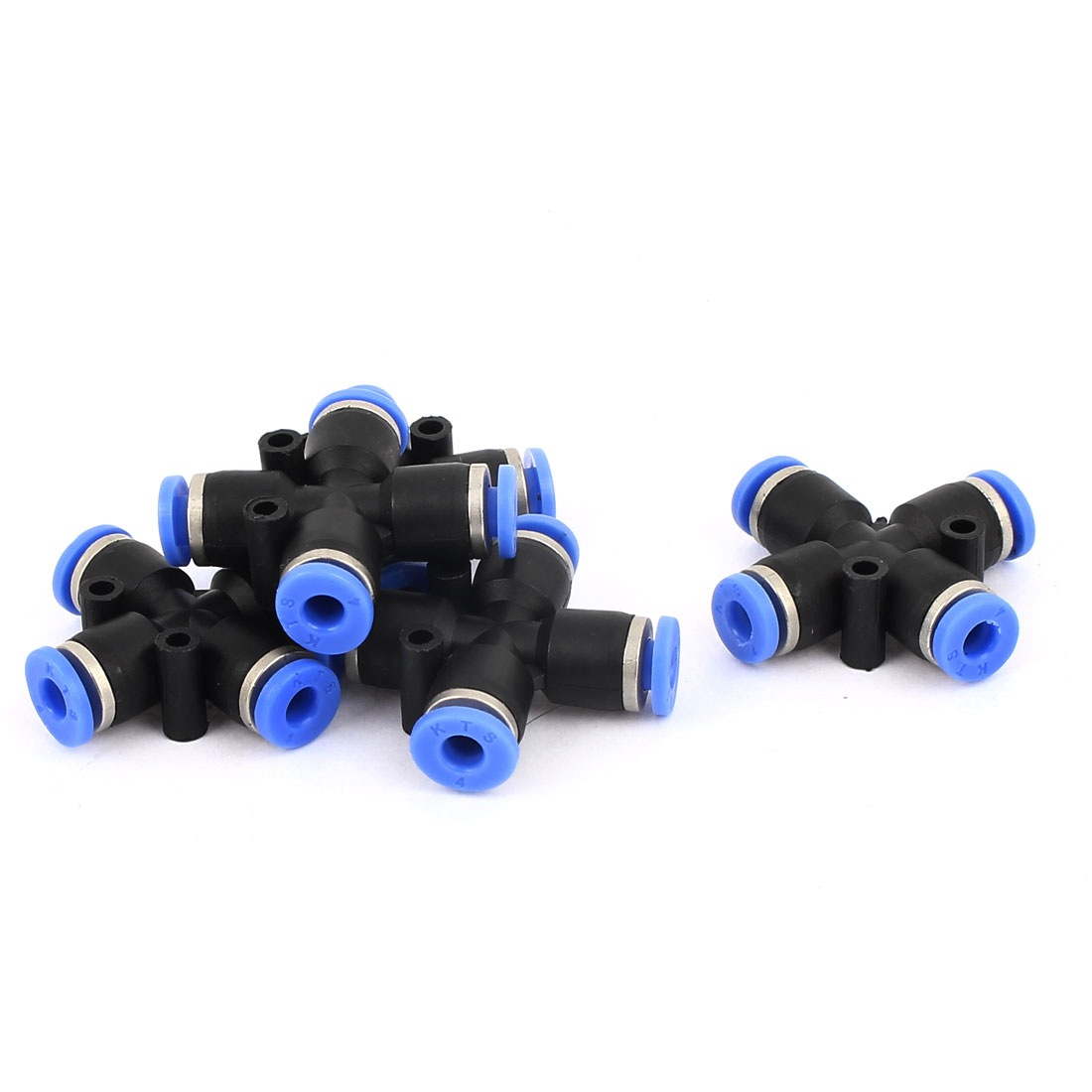 5 Pcs 4mm Pneumatic Equal Cross Union Push In Fitting Quick Connect Air Tube