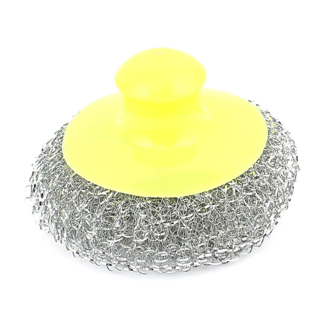 Kitchen Pot Pan Bowel Stainless Steel Wire Ball Scouring Pad Cleaning Brush Cleaner Yellow