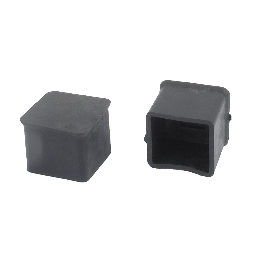 2pcs Rubber Square Shape Furniture Table Chair Foot Leg Tip Pad Cover Floor Protector