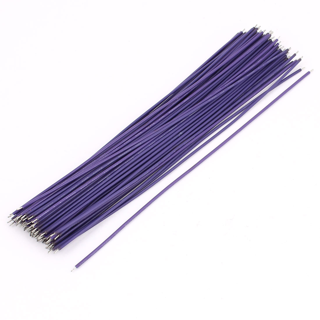 72pcs Purple PVC Insulated Wrap Flexible PCB Soldering Motor Wire Cord 170mm Length
