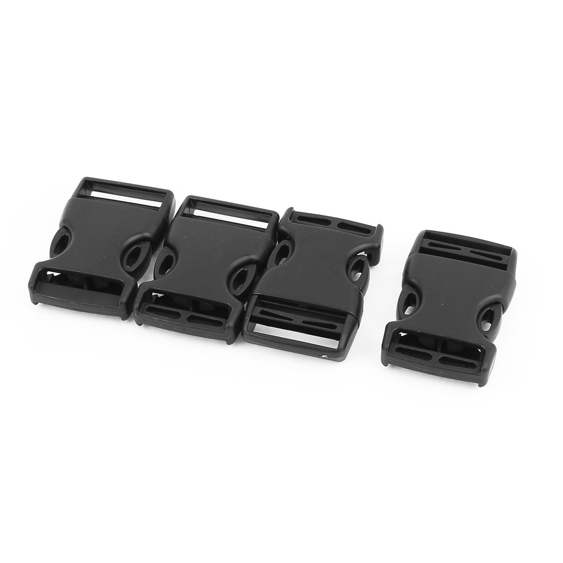 4pcs Black Plastic Curved Safety Side Quick Release Buckles Snap Clip for 25mm Webbing Band