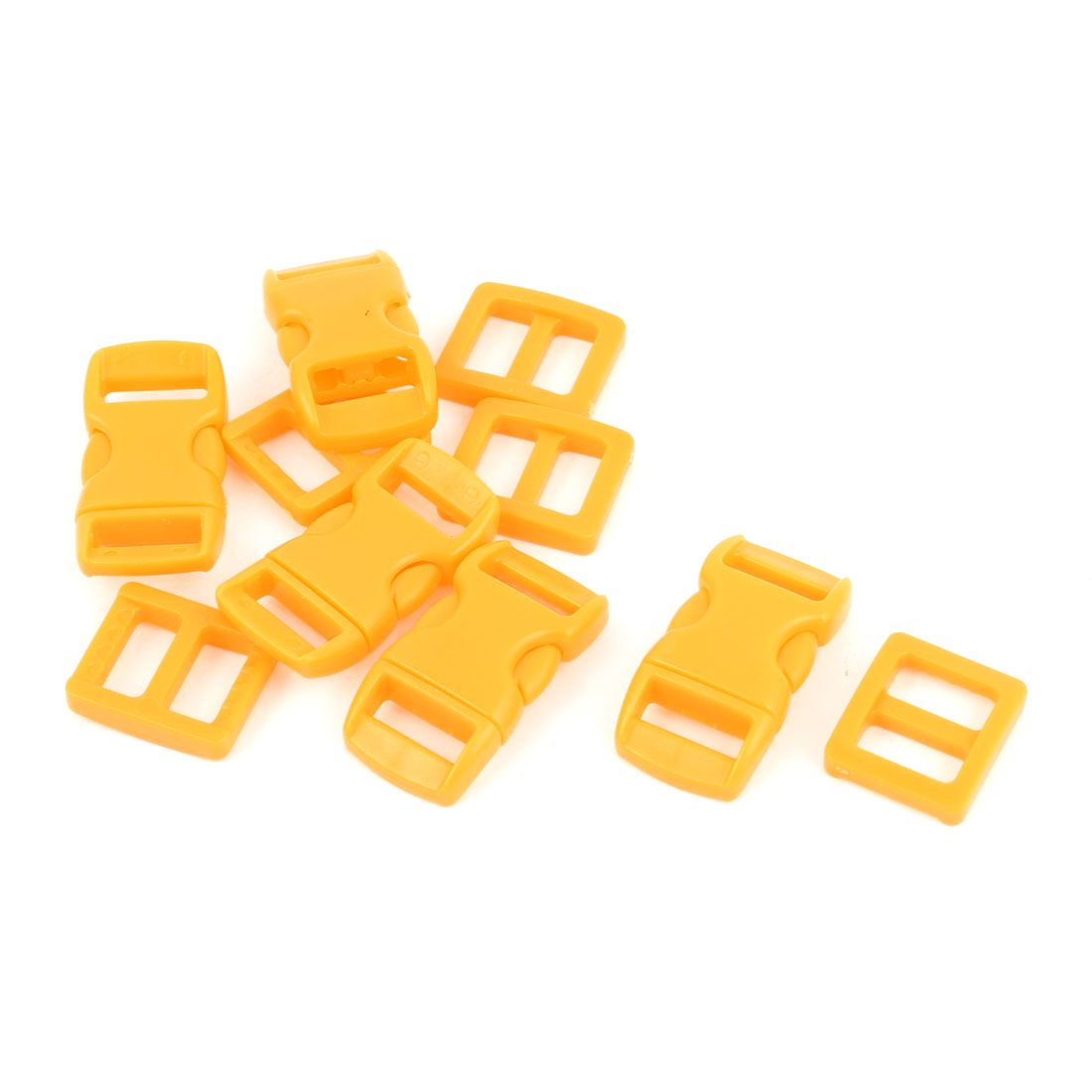 5pcs Orange Plastic Luaggage Side Quick Release Clasp Buckles for 10-11mm Webbing Band
