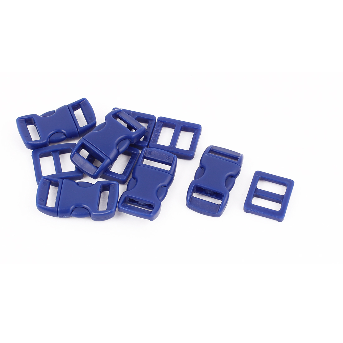 5pcs Dark Blue Plastic Packbag Side Quick Release Clasp Buckles for 10-11mm Webbing Strap