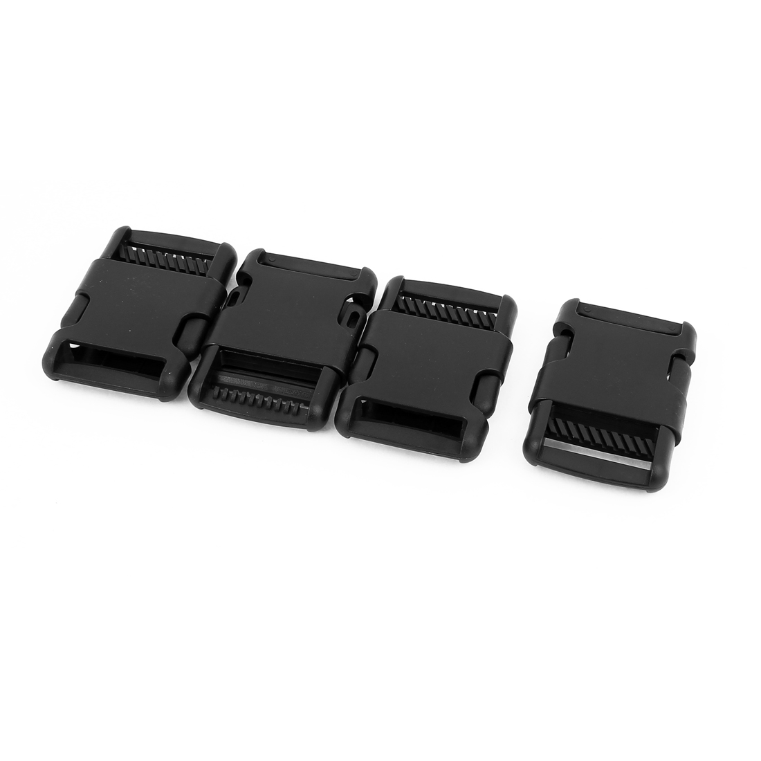 4pcs Black Plastic Luggage Clasp Side Quick Release Buckles Clip for 32mm Webbing Band