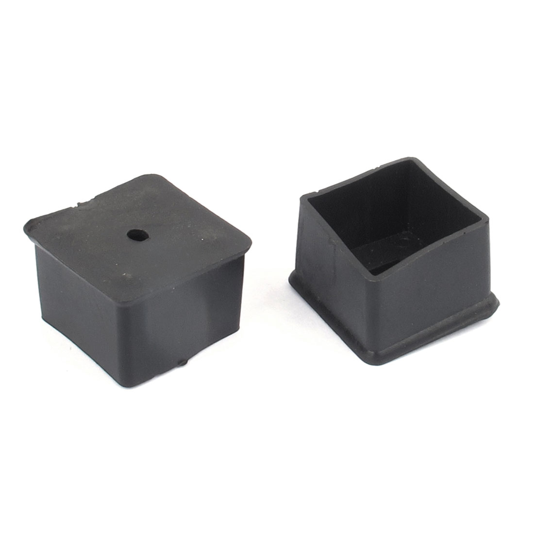 2pcs Rubber Square Shape Furniture Table Chair Foot Leg Cap Tip Pad Cover Protector