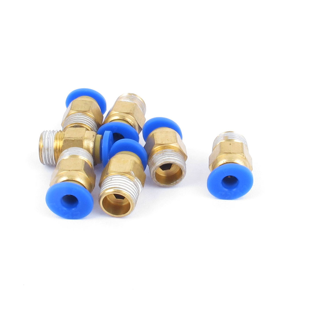 7pcs 9.5mm Male Thread 4mm Push in Joint Straight Pneumatic Quick Coupler Fitting Connector