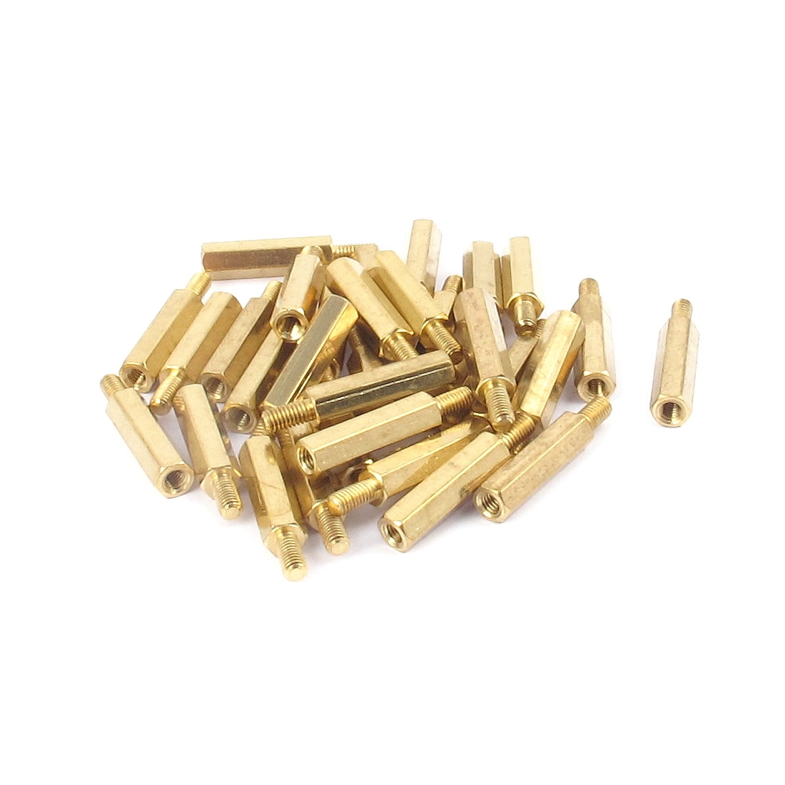 32pcs M3x18mm+6mm Male to Female Brass Hexagon Standoff Stand-off Spacer Pillar for PCB Motherboard