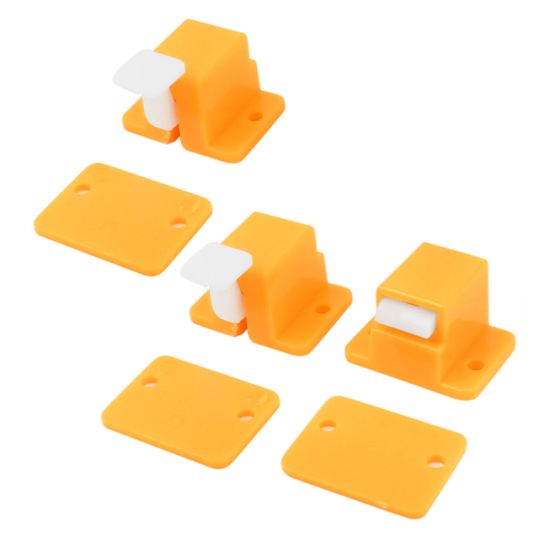 3pcs Yellow White Plastic PCB ICT Prototype Test Fixture Jig Edge Latch w Screws