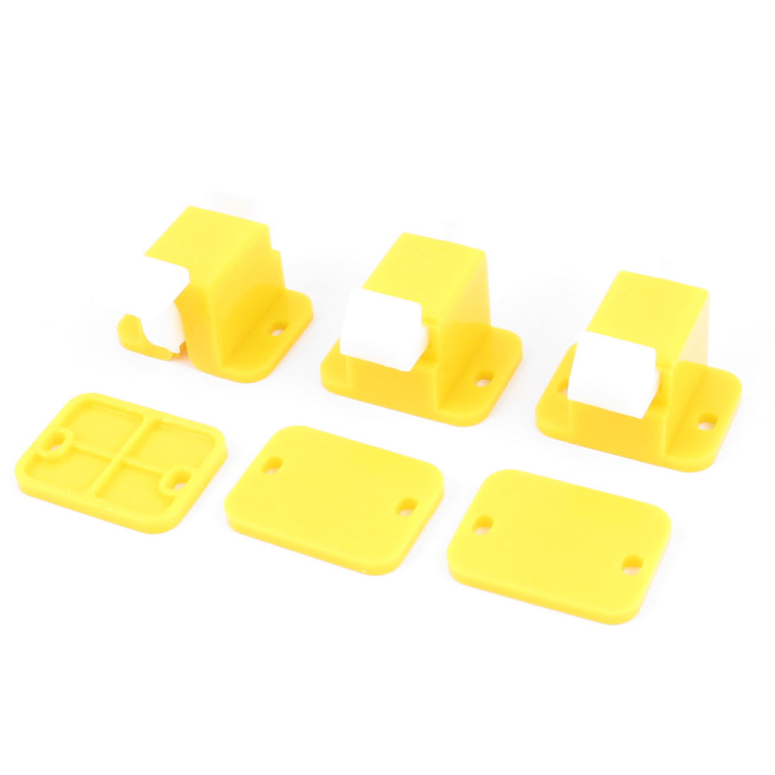 3pcs Yellow White Plastic PCB Prototype Test Testing Fixture Jig Edge Latch w Screws
