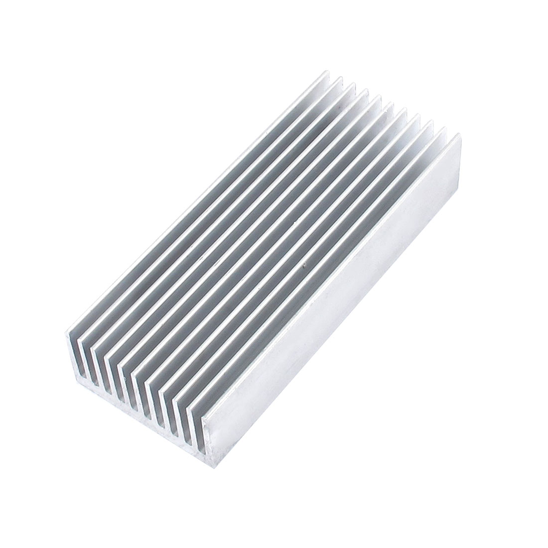 Silver Tone Aluminum Rectangle Heatsink Heat Sink Cooling Cooler Fin 98mmx40mmx20mm for Mosfet IC