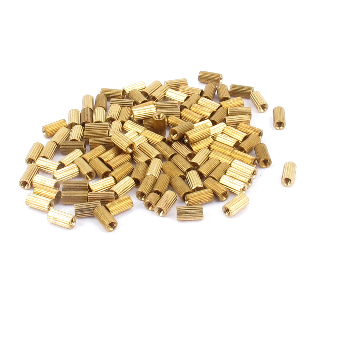 115pcs 6mm Long M2 Female Thread Brass Cylinder Standoff Spacer Pillar for PCB Motherboard