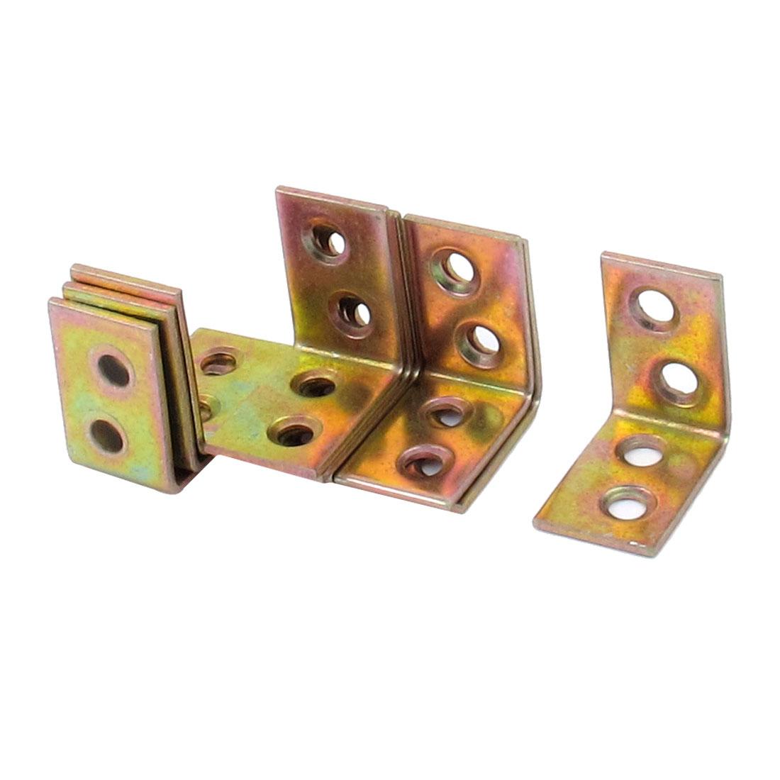 26mmx26mmx16mm 90 Degree 4 Hole Design Shelf Support Corner Right Angle Bracket 10pcs