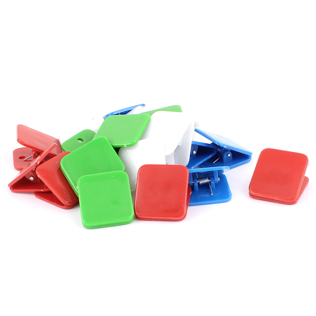 Office School Plastic Spring Loaded Paper Document File Memo Stationery Binder Clip Assorted Color 20pcs