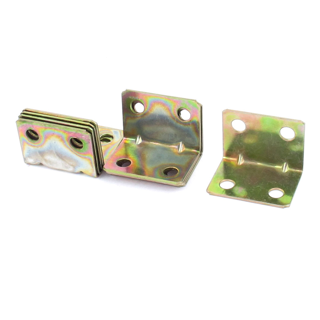 10pcs 20mmx20mm Shelf Corner Brace Joint 4 Holes Design Support Right Angle Bracket