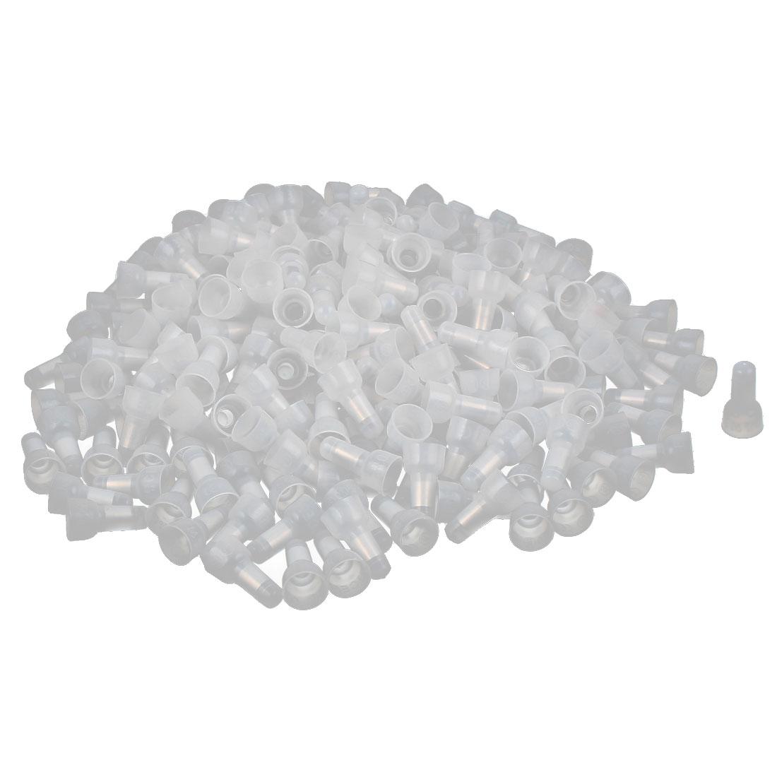 226pcs 10-12mm CE5 Plastic Crimp Cap Wire Closed End Connectors Covers Safeguard Clear White