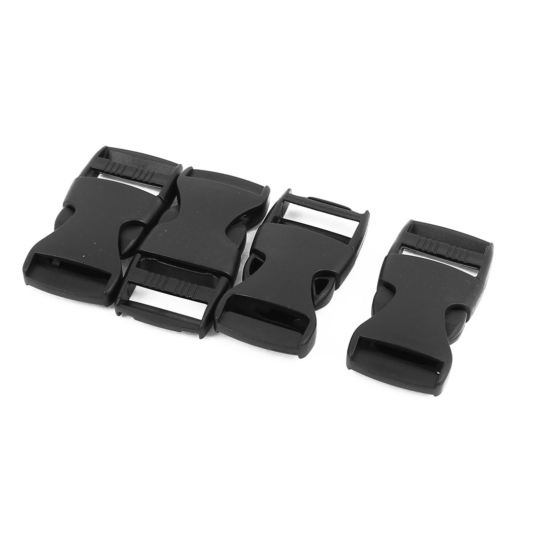 4pcs Black Plastic Luggage Side Quick Release Buckles Snap Clip for 26mm Webbing Band