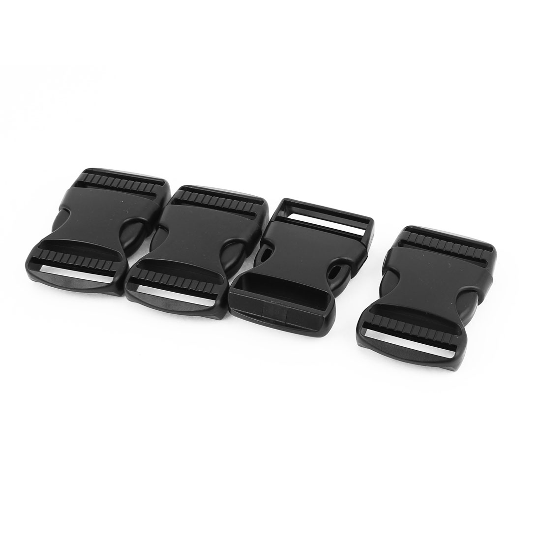 4pcs Black Plastic Pack Bag Side Quick Release Buckles Snap Clip for 37mm Webbing Band