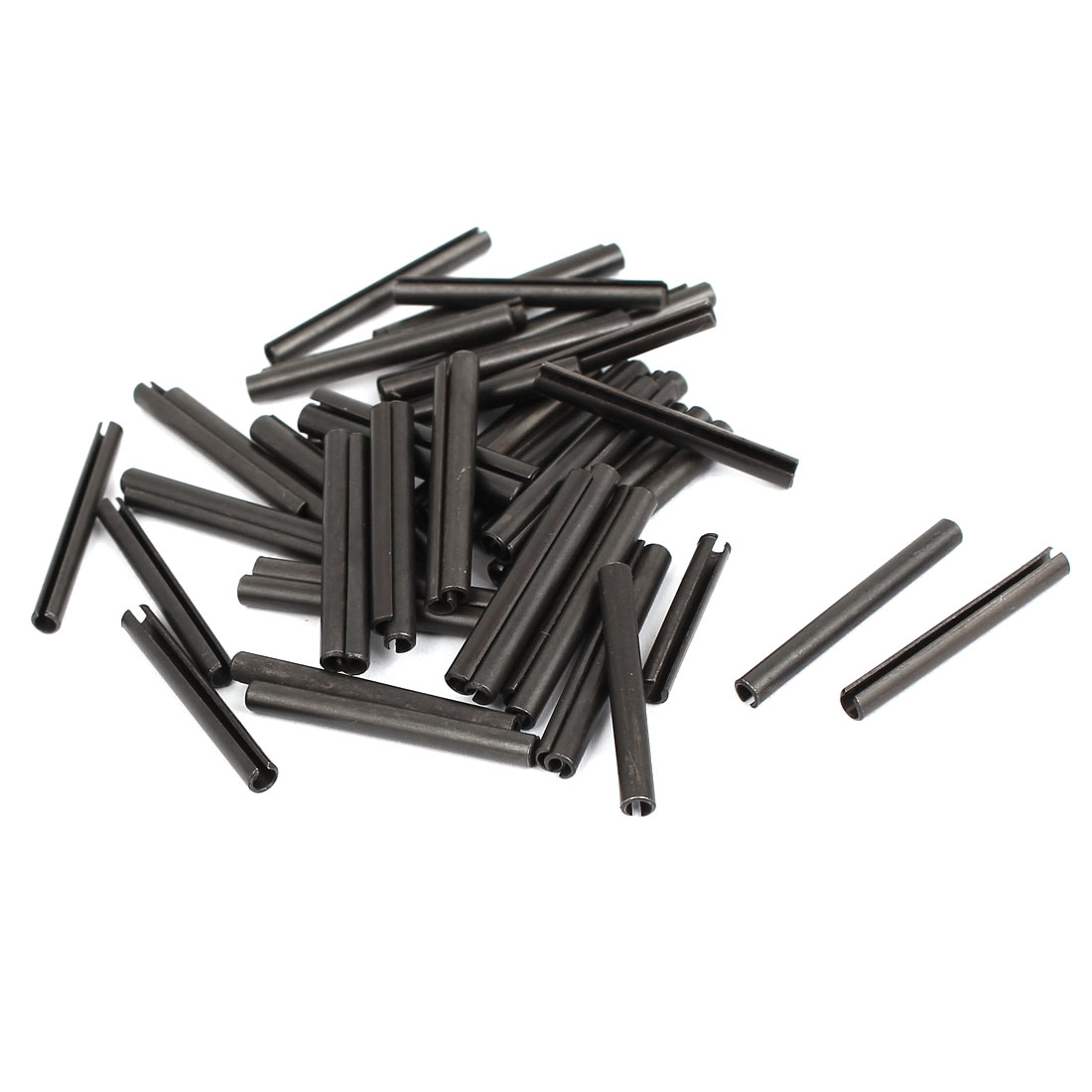 50pcs Carbon Steel Split Spring Dowel Tension Roll Pin Hardware M3x30mm