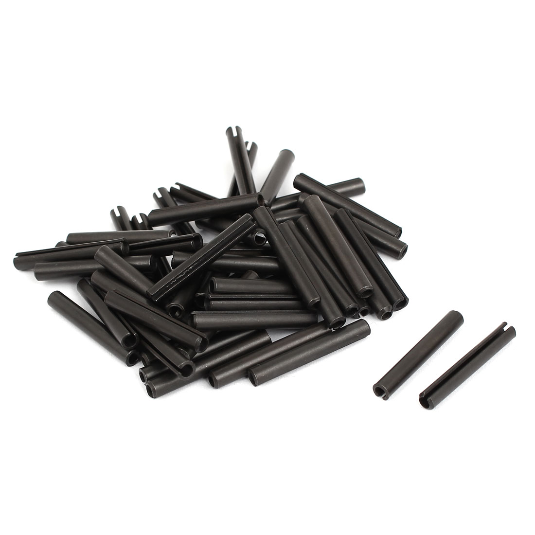 50pcs Carbon Steel Split Spring Dowel Tension Roll Pin Hardware M4x30mm