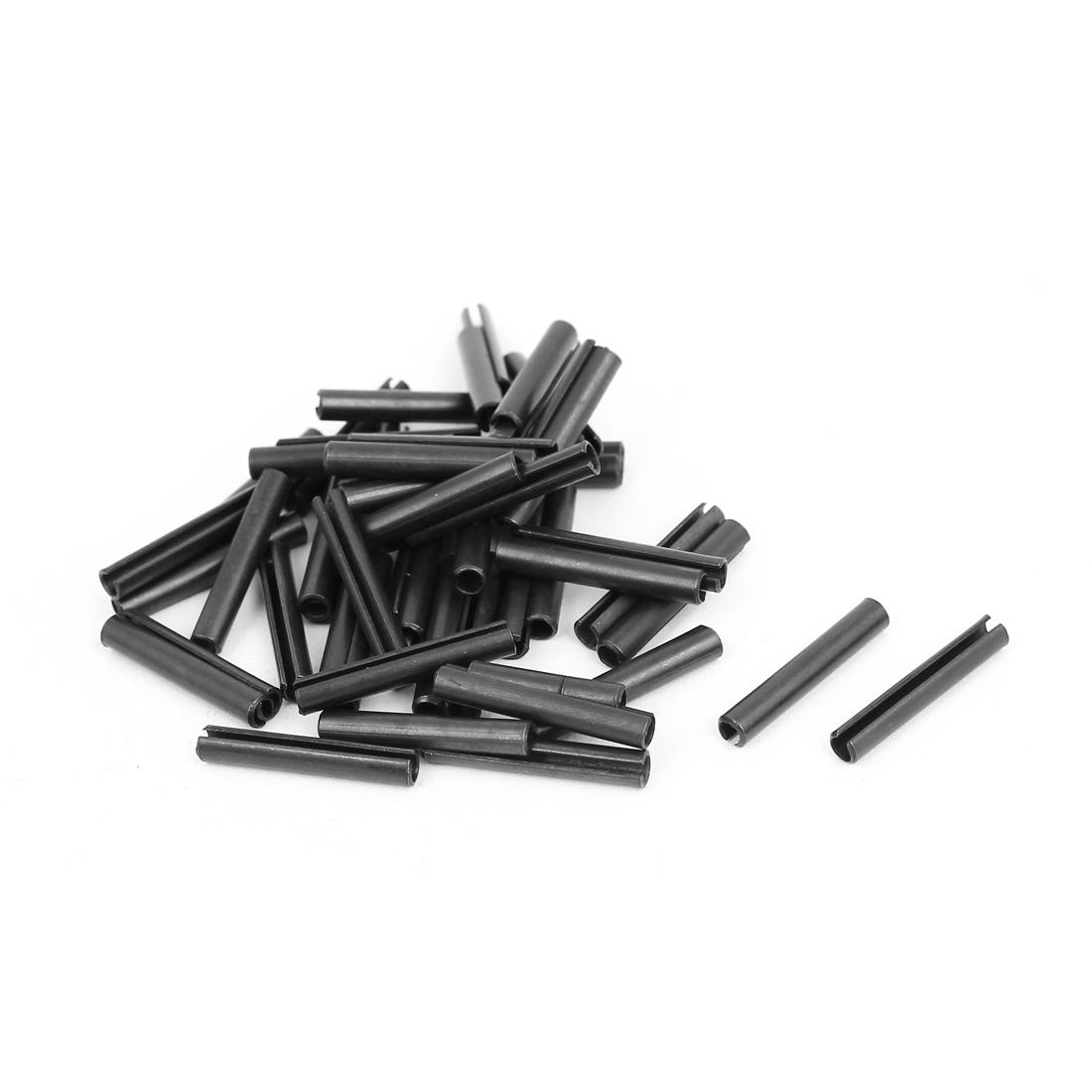 M3x20mm Carbon Steel Split Spring Roll Dowel Pins Fasteners 50pcs