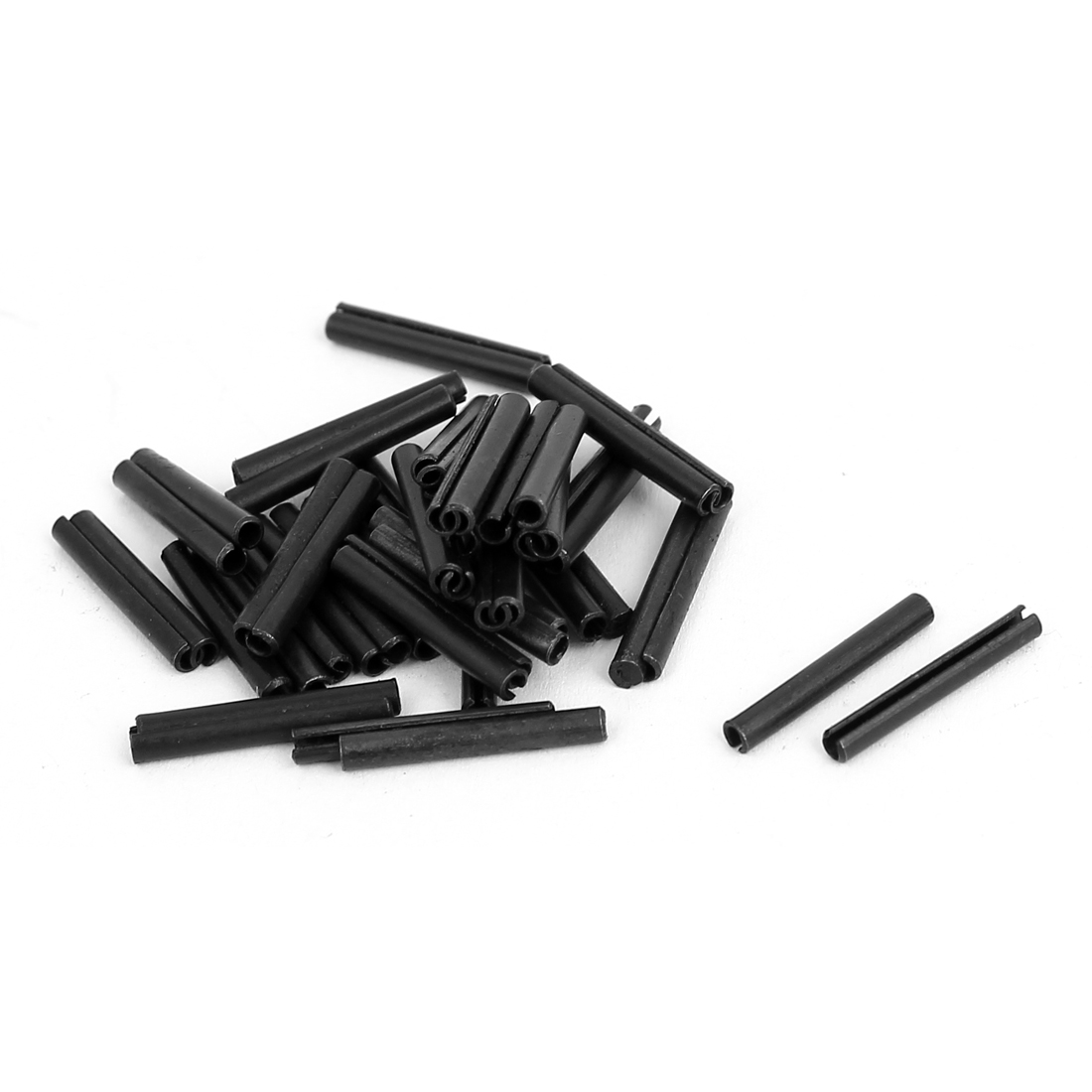 50pcs Carbon Steel Split Spring Dowel Tension Roll Pin Hardware M2x16mm