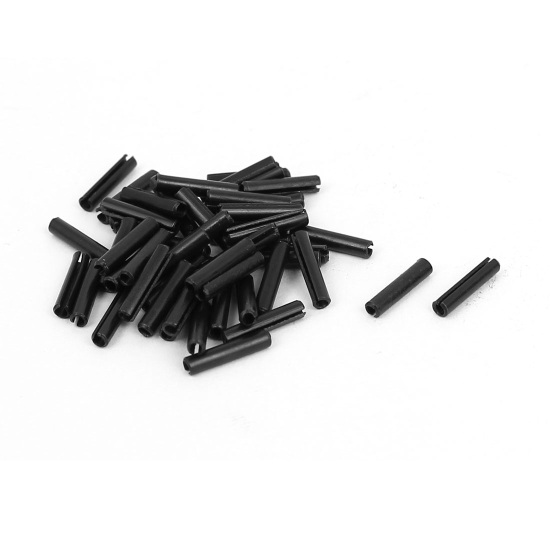 M1.5x8mm Carbon Steel Split Spring Roll Dowel Pins Fasteners 50pcs