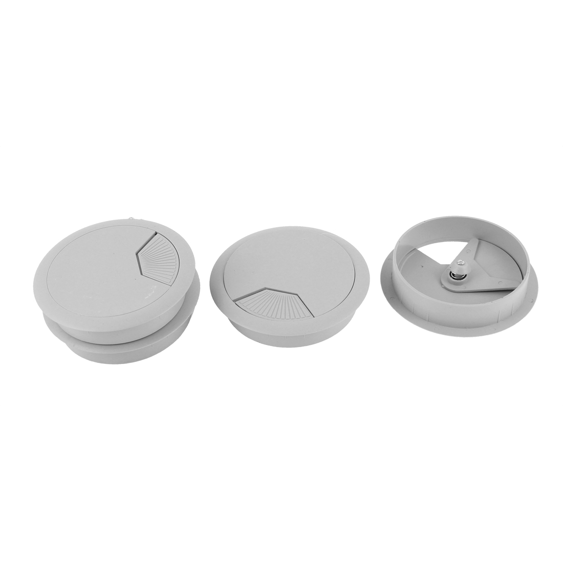 Plastic 80mm Round Computer Desk Wire Cable Hole Cover Grommet 4Pcs