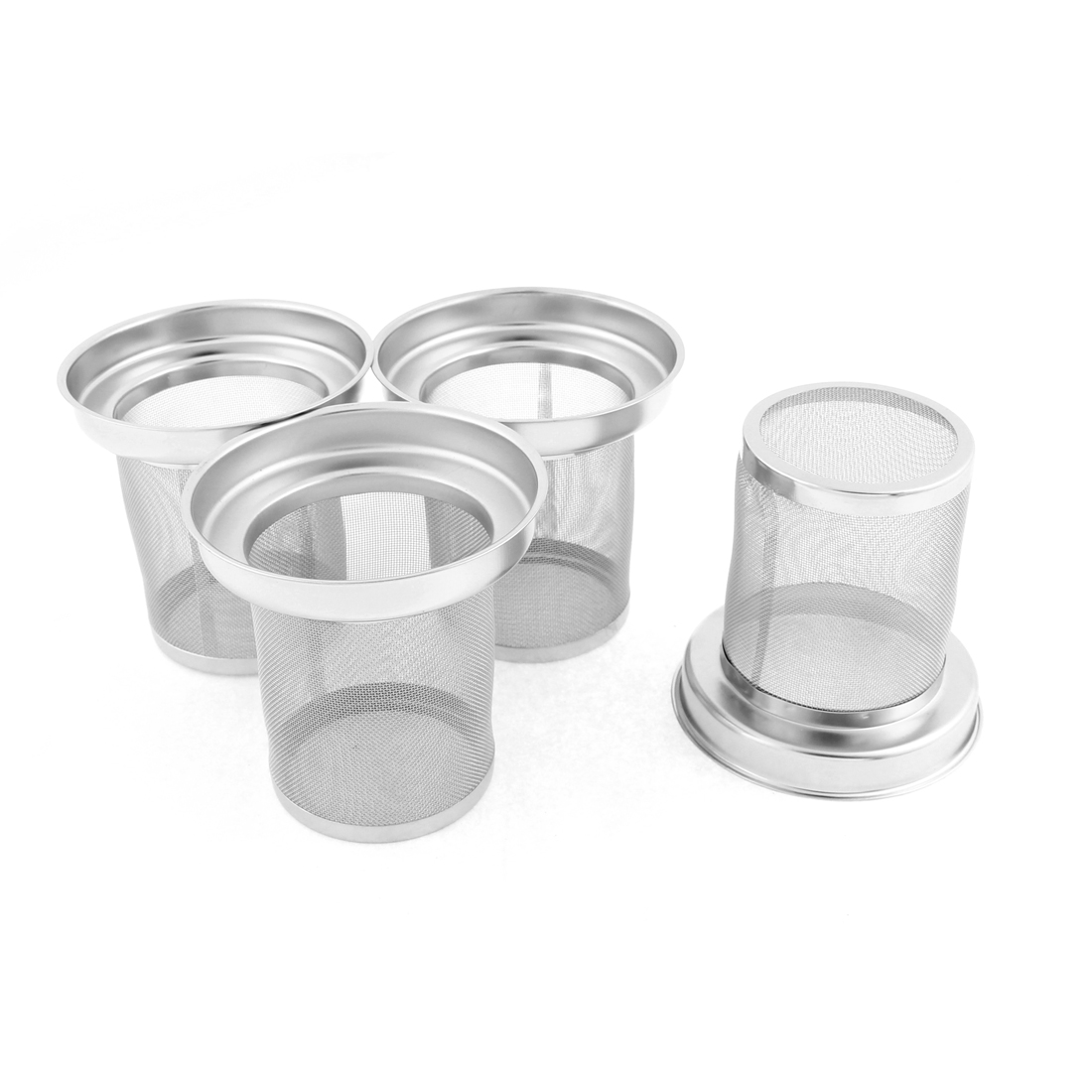 Stainless Steel Mesh Filter Loose Spice Ball Tea Infuser Strainer 80mm Dia 4Pcs