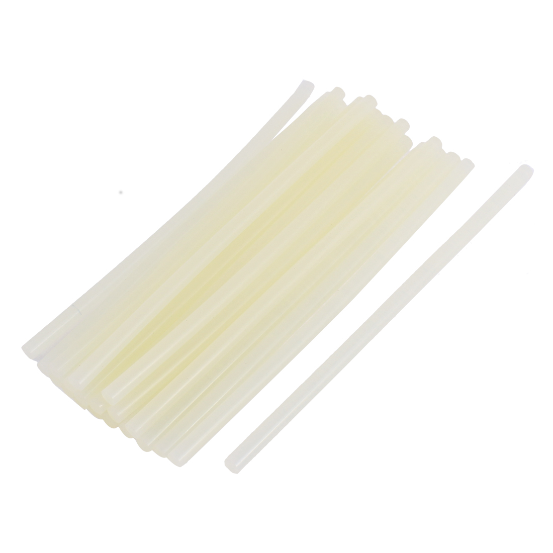 20Pcs Beige Glue Stick Hot Melt Gun Car Sudio Technology 200mm x 7mm