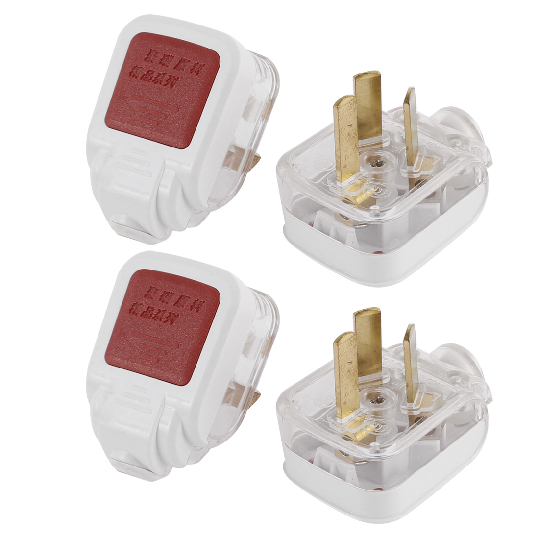 AU Plug AC 250V 10A Rewirable Power Cord Connector Adapter 4Pcs