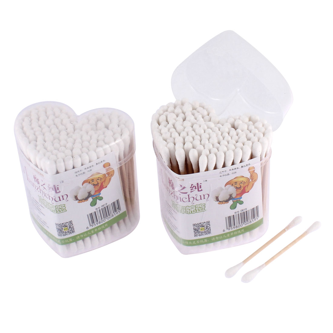320Pcs Double End Ear Wax Remover Picks Cotton Swabs Bud Cosmetic Tool