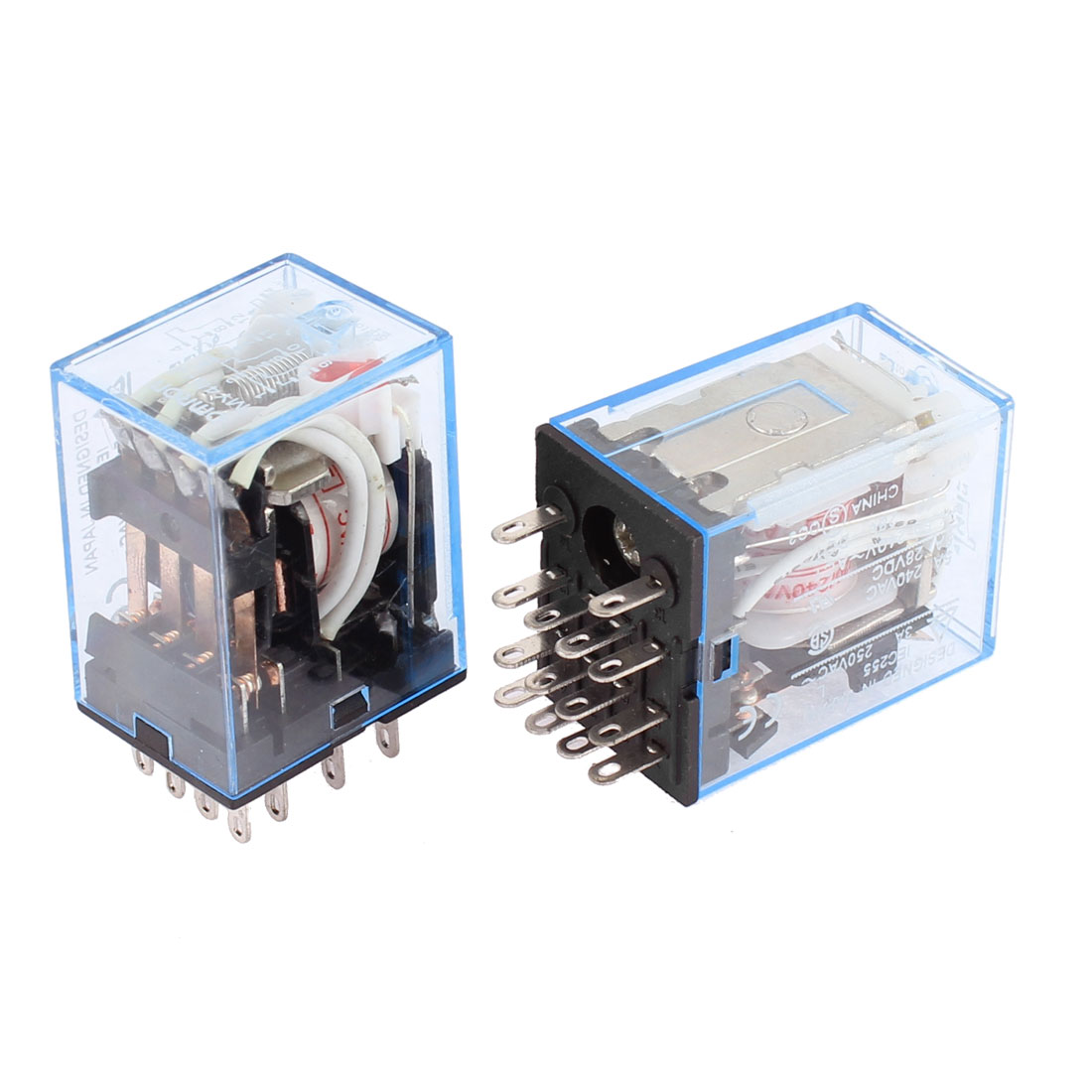 AC 220V Coil 14 Pin DPDT IEC255 Electromagnetic Power Relay Delay 2Pcs