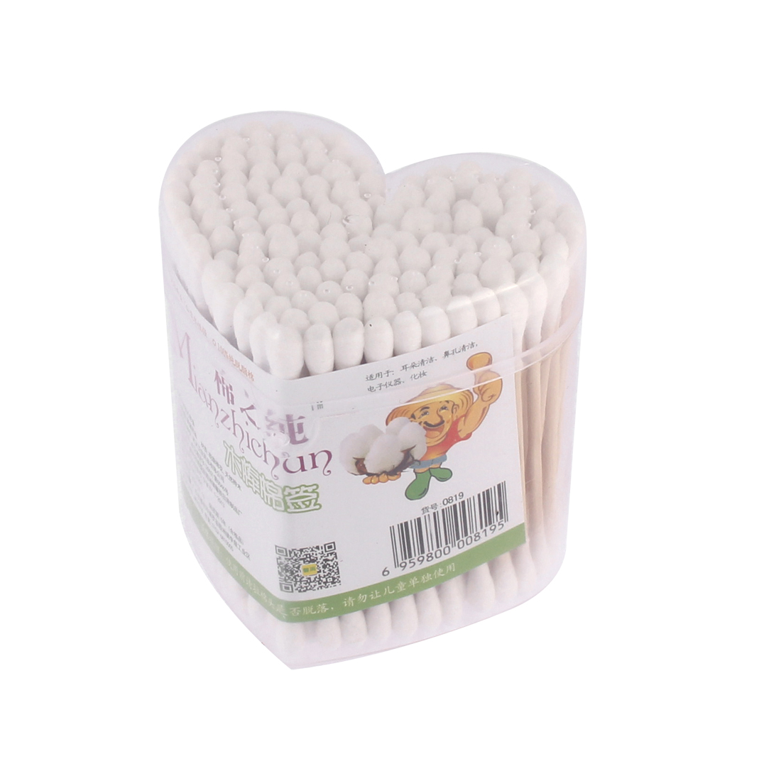 160Pcs Double End Ear Wax Remover Picks Cotton Swabs Bud Cosmetic Tool