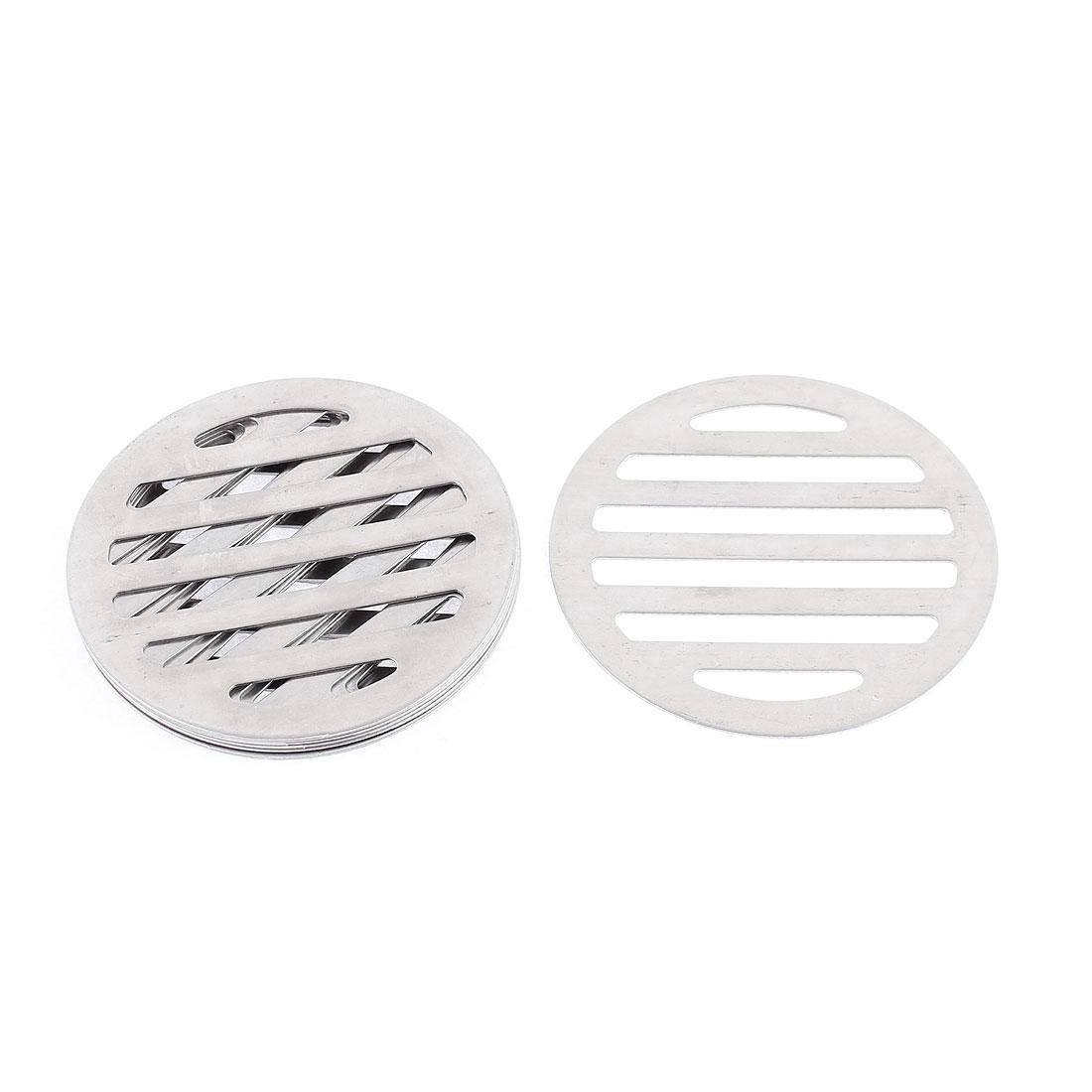 """Kitchen Bathroom Round Floor Drain Drainer Cover 3"""" 7.5cm Dia 8Pcs"""
