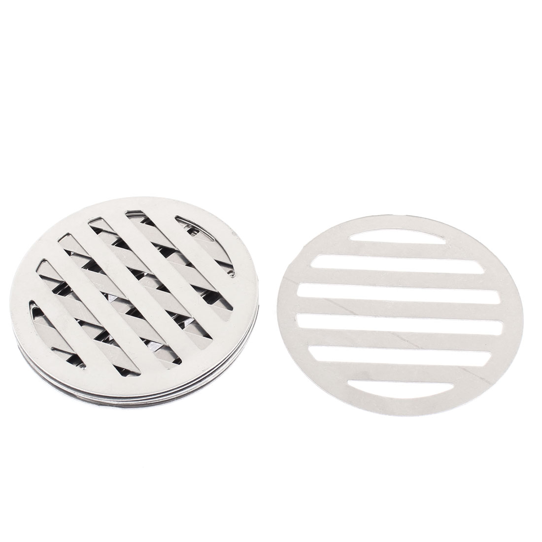 "Kitchen Bathroom Round Floor Drain Drainer Cover 3.4"" 8.6cm Dia 8Pcs"