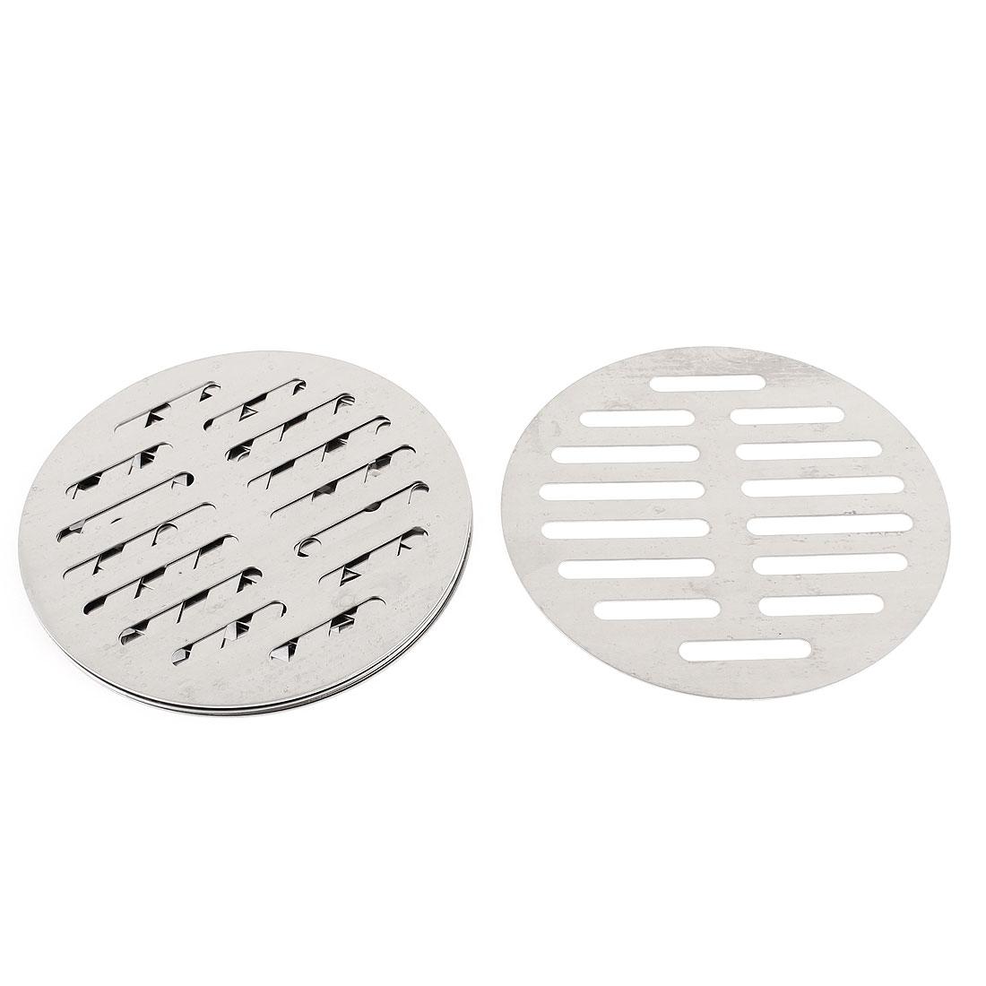 """Kitchen Bathroom Round Floor Drain Drainer Cover 5"""" 12.5cm Dia 6Pcs"""