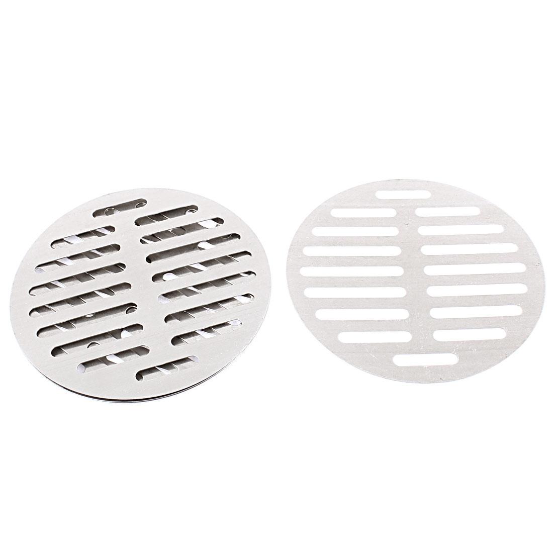 """Kitchen Bathroom Round Floor Drain Drainer Cover 6"""" 15cm Dia 4Pcs"""